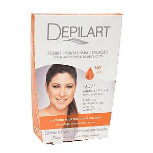 DEPILART Lenços Prontos para Depilação Facial Mel 20un