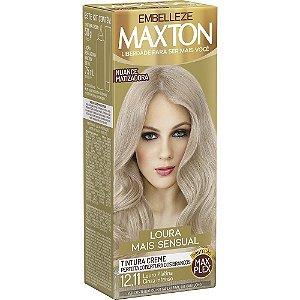EMBELEZZE Maxton Coloração Permanente Kit 12.11 Cinza Intenso