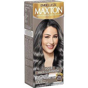 EMBELLEZE Maxton Coloração Permanente Kit 001 Cinza Charcoal