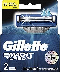 GILLETTE Carga para Aparelho de Barbear Mach3 Turbo 2un