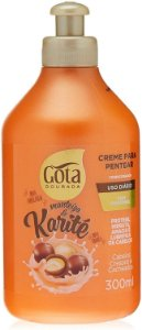 GOTA DOURADA Manteiga de Karité Creme para Pentear 300ml