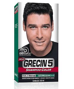 GRECIN5 Shampoo Color Castanho Escuro