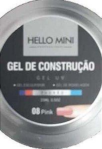 HELLO MINI Gel de Construção UV Padrão Pink 08 15ml