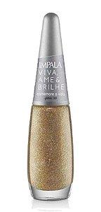 IMPALA Esmalte Viva, Ame & Brilhe Glitter 3D Comemore a Vida 7,5ml