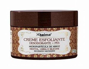 KELMA Creme Esfoliante Desodorante para os Pés 250g