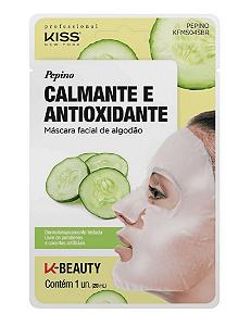 KISS NEW YORK Máscara Facial de Algodão Calmante e Antioxidante Pepino 20ml (KFMS04S)