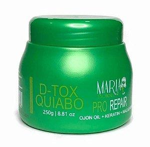 MARIA ESCANDALOSA Máscara Capilar D-Tox Quiabo Pro Repair 250g