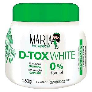 MARIA ESCANDALOSA Máscara Capilar Ultra Hidratante D-Tox White 0% Formol 250g