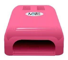 MEGA BELL Nails Matic Cabine UV  para Unhas Gel e Acrigel 127V Rosa (123)