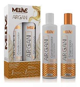 MELIVE Argan Kit Shampoo + Condicionador de Hidratação 300ml