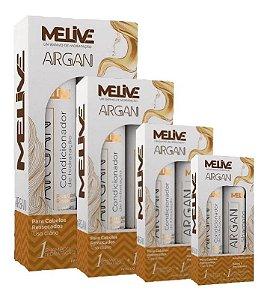 MELIVE Argan Kit Shampoo + Condicionador de Hidratação 300ml 6un