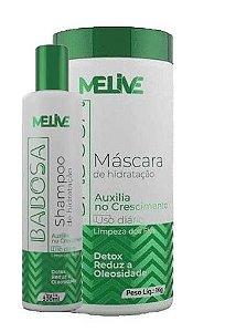 MELIVE Babosa Kit Shampoo 300ml + Máscara Capilar 1Kg