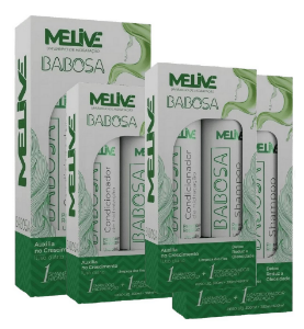 MELIVE Babosa Kit Shampoo + Condicionador de Hidratação 300ml 6un