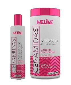 MELIVE Ceramidas kit Shampoo 300ml + Máscara Capilar 1Kg