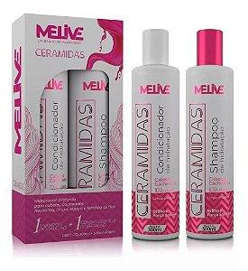 MELIVE Ceramidas Kit Shampoo + Condicionador de Hidratação 300ml