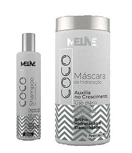 MELIVE Coco Kit Shampoo 300ml + Máscara Capilar 1Kg