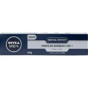 NIVEA Men Creme de Barbear 2 em 1 Original Protect 65g