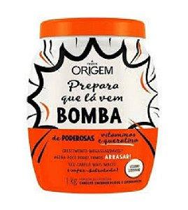 ORIGEM Creme de Hidratação Condicionante Bomba de Queratina e Vitaminas Vegano 1Kg