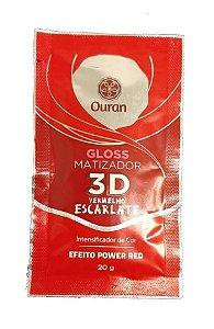 OURAN Gloss Matizador 3D Vermelho Escarlate Efeito Power Red 20g