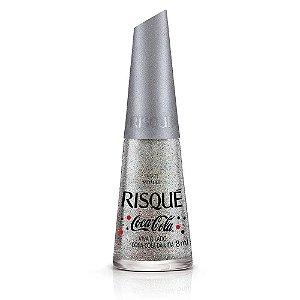 RISQUÉ Esmalte Coca-Cola Metálico Viva o Lado Coca-Cola da Vida