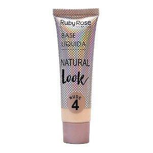RUBY ROSE Base Líquida Natural Look HB-8051 Nude 4 29ml