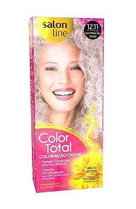SALON LINE Color Total Coloração Permanente Kit 12.11 Loiro Platino Cinza Intenso