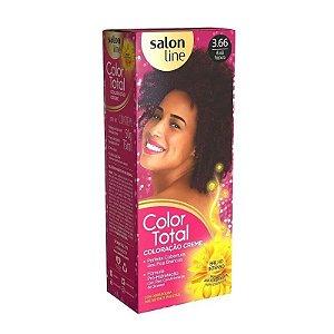 SALON LINE Color Total Coloração Permanente Kit 3.66 Acajú Púrpura