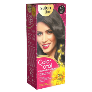 SALON LINE Color Total Coloração Permanente Kit 4.0 Castanho Médio