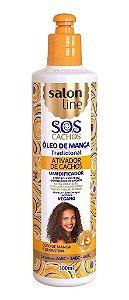 SALON LINE SOS Cachos Óleo de Manga Ativador de Cachos Vegano 300ml