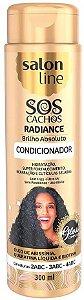 SALON LINE SOS Cachos Radiance Brilho Absoluto Condicionador 300ml