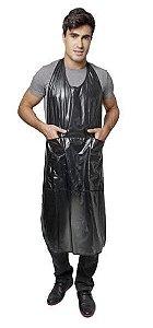 SANTA CLARA Avental para Tintura Longo com Bolso em PVC Ref.542 Preto (9604)