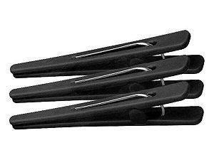 SANTA CLARA Clips Plástico de Carbono Antiestático Suporta 180° 9cm de comprimento 12un (4520)