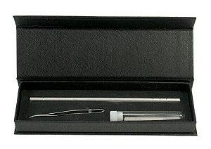 SANTA CLARA Kit de Navalha com Lâminas para Desenho no Cabelo Importado (4801)