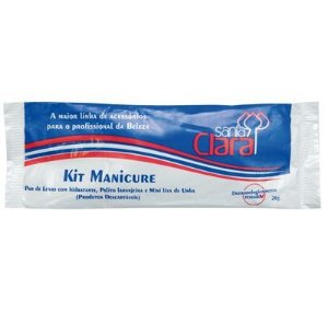 SANTA CLARA Kit Manicure Descartável com Luvas Higiênicas e Creme Amolecedor de Cutícula (1451)