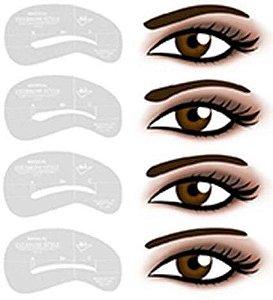SANTA CLARA Kit para Desenho de Sobrancelha B1-B4 4 Peças Importado (2314)