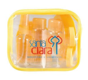 SANTA CLARA Kit para Viagem de Plástico 8 Peças Importado (1403)