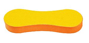 SANTA CLARA Lixa para Pés 15mm Anatômica lixa Preta/Amarela E.V.A. (2348)