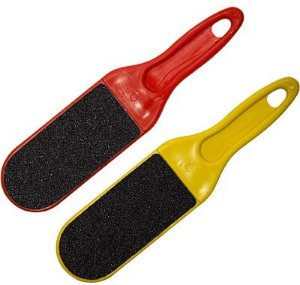 SANTA CLARA Lixa para Pés Plástica Reta lixa Preta/Preta cores variadas 1un (335)