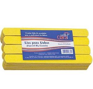 SANTA CLARA Lixa para Unhas Canário Amarela Big Especial 72un (389)