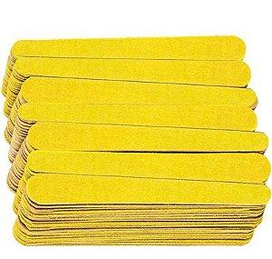 SANTA CLARA Lixa para Unhas Canário Amarela Média 144un (884)