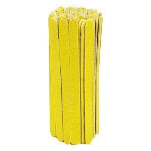 SANTA CLARA Lixa para Unhas Canário Amarela Popular Média 100un (4128)