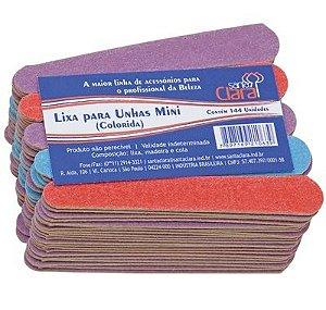 SANTA CLARA Lixa para Unhas Colorida Mini cores sortidas 144Un (1063)