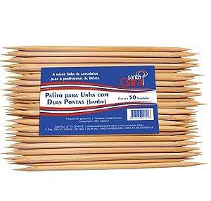 SANTA CLARA Palito para Unhas com Duas Pontas de Bambu 50un (723)