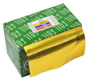 SANTA CLARA Papel Alumínio com 16 Micras Amarelo em Rolo importado (2461)