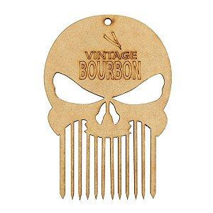 SANTA CLARA Pente para Barbearia de Madeira Vintage Bourbon (5034)