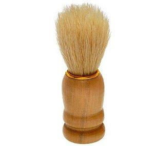 SANTA CLARA Pincel para Barbear com Pelo Natural com Cabo em Madeira importado (1249)