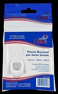SANTA CLARA Protetor Descartável para Assento Sanitário 6un (2095)