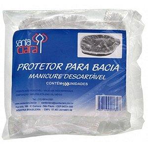 SANTA CLARA Protetor para Bacia de Manicure Descartável 100un (2946)