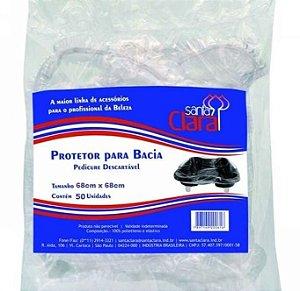 SANTA CLARA Protetor para Bacia de Pedicure Descartável 50un (164)