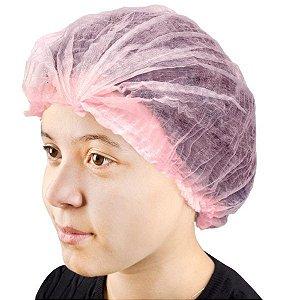 SANTA CLARA Touca Descartável Não Tecido Rosa 5un (5021)